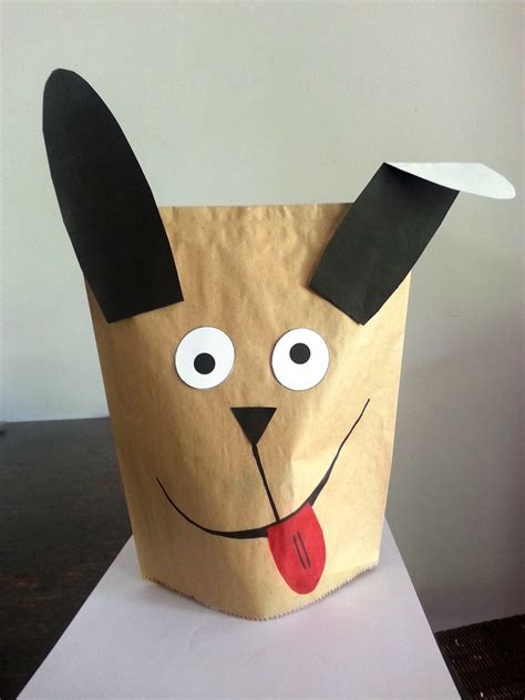 dog puppet pattern paper bag don t have balloons try making a paper hand puppet