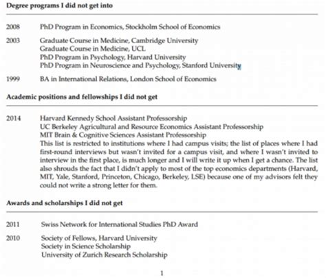 Rejection Letter Goes Viral Cv Of Failures Of This Princeton Psychology Professor Goes Viral