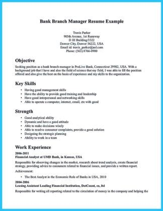 Sample Resume Objectives Banking by One Of Recommended Banking Resume Examples To Learn How