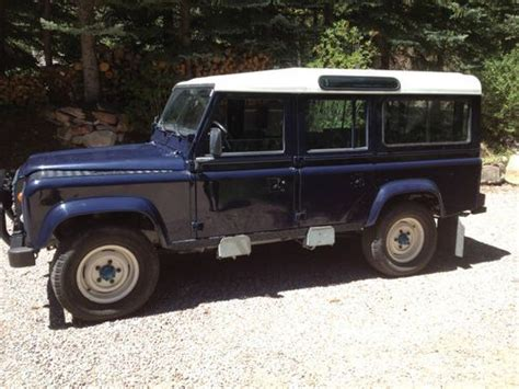 navy land rover find used land rover defender 110 lhd navy blue