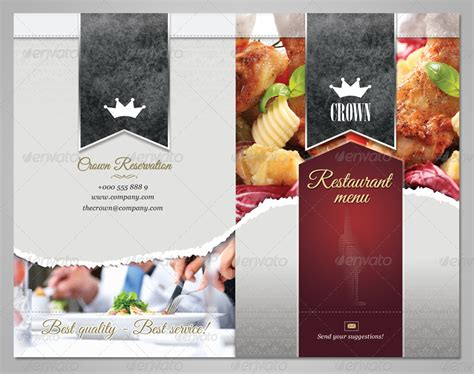 restaurants menu design templates restaurant menu template