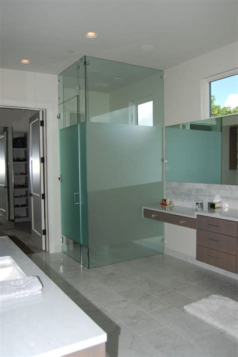 bathroom divider ideas glass wall dividers bathroom glamor and modern style