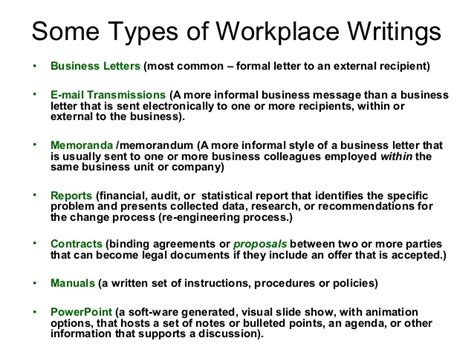 Types Of Business Letter In Technical Writing business writing power point presentation