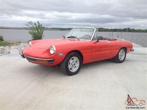 1971 Alfa Romeo Spider by 1971 Alfa Romeo Spider Veloce Convertible Fuel