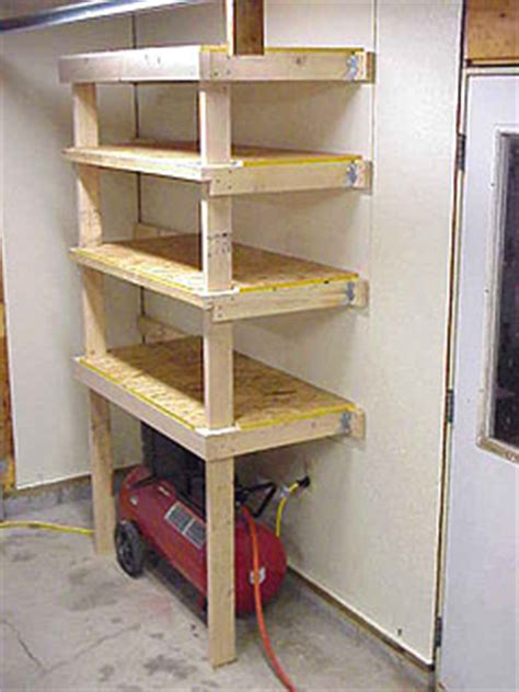 pdf diy garage hanging wall shelves woodworking plan