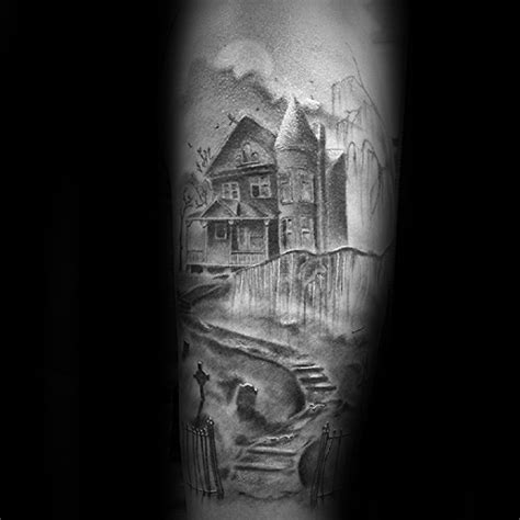 haunted house design plans 60 haunted house tattoo designs for men spooky spot ink ideas