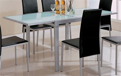 Frosted Glass Top Dining Table Coaster Frosted Glass Top Dining Table 120211 At Homelement