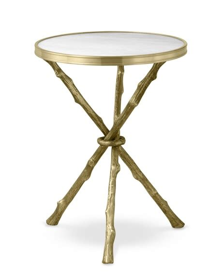 marble accent table faux bois accent table with marble top williams sonoma
