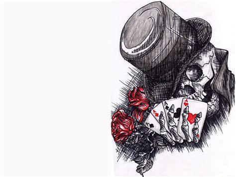 skull joker tattoo designs clover tattoo flash clown tattoo flash designs male