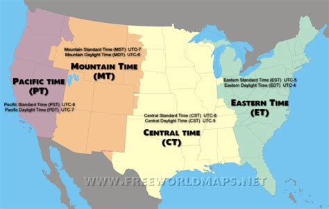 us map with time zone lines u s time zones mr petrosino s classroom website