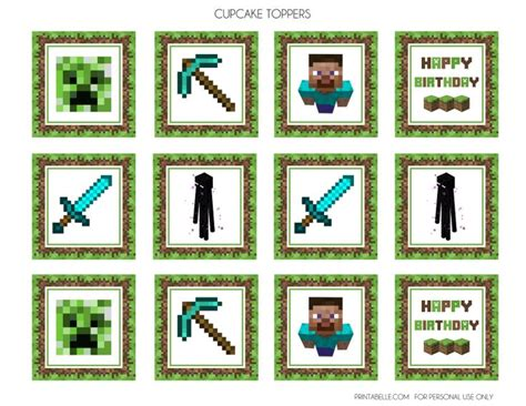 printable minecraft label free minecraft printables party printables birthdays