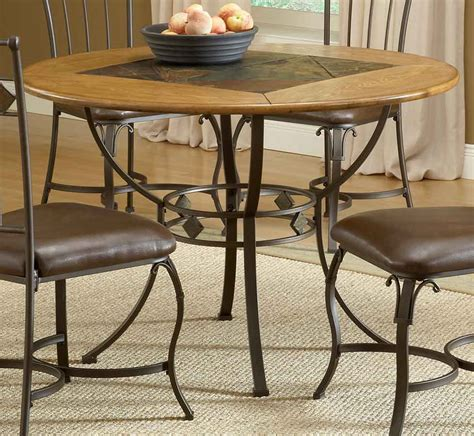 round slate dining hillsdale lakeview round dining collection with slate