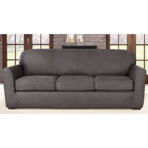 how to put on a sure fit sofa cover sure fit ultimate stretch sofa slipcover reviews wayfair