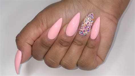 Acrylic Nail by Rainbow Bling Stiletto Acrylic Nails