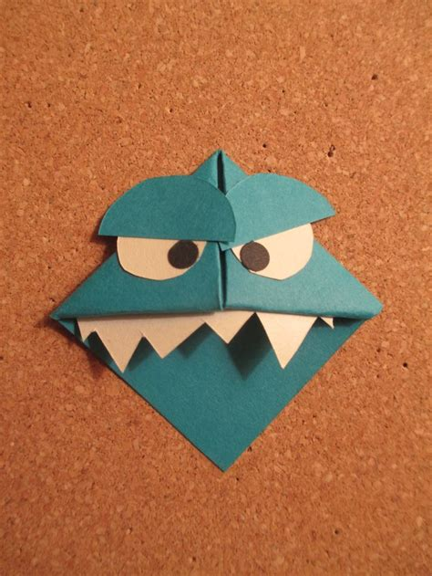 Origami Monsters - bookmark handmade origami bookmarks