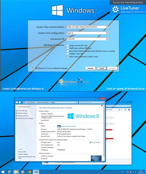 ux themes for windows 8 1 windows 8 transformation ux pack 9 1 released os