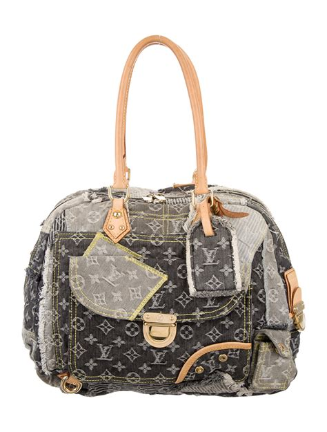 Louis Vuitton Summer Collection Monogram Denim Patchwork by Louis Vuitton Patchwork Denim Bowly Bag Handbags
