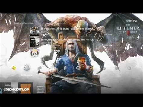 ps4 themes witcher 3 new free ps4 theme the witcher 3 wild hunt expansions