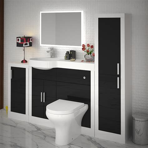 Apollo Bathroom Fitted Furniture Set Black Buy Online At Apollo Bathroom Furniture