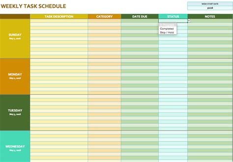 Monthly Task Calendar Template free weekly schedule templates for excel smartsheet