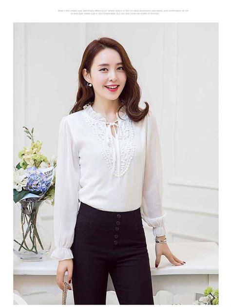 Blouse Minah White Kekinian Remaja toko blouse wanita blue denim blouses