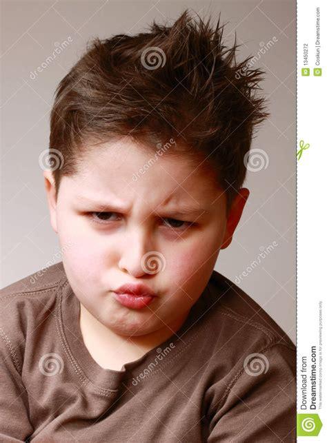boy sulking sulking stock photography image 13450272