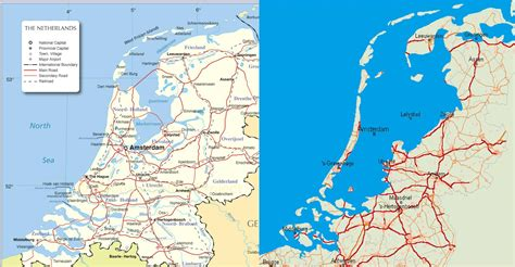 netherlands map reclaimed land the netherlands vs the netherlands without dikes 1810x940