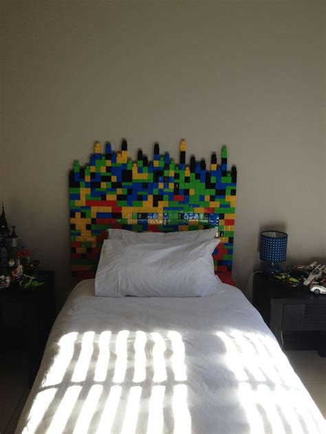 Lego Headboard My Son Is Obsessed With Lego So I Made