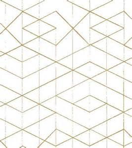 Geometric Design Rugs Geometric Wallpaper Gold On White Old New House Wallpaper Nh00225