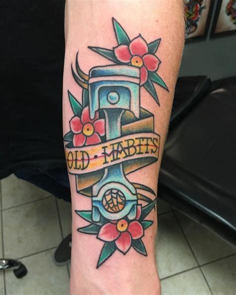 new school mechanic tattoo traditional piston tattoo best tattoo ideas gallery