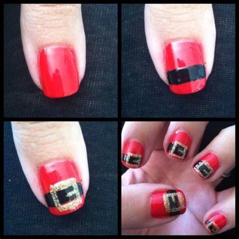 easy nail art christmas easy christmas nail art beauty pinterest