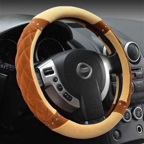 Setir Cover Mobil Universal Steering Wheel Cover And Black winter warm car steering wheel cover 38cm universal coral velvet cover in steering covers
