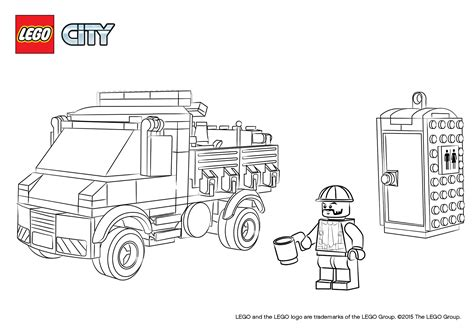 free coloring pages of lego police truck