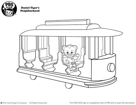 Daniel Tiger S Neighborhood Coloring Pages Coloring Pages Daniel Tiger Coloring Page