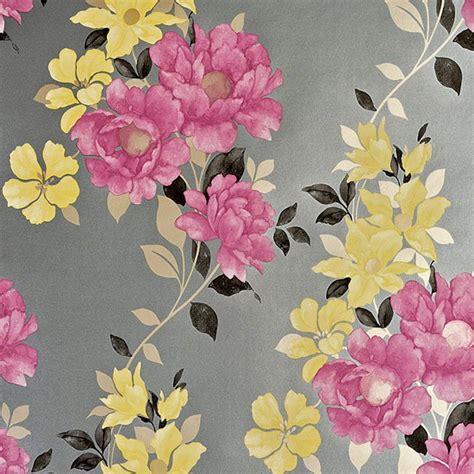 wallpaper grey homebase duchessa in damson grey wallpaper from homebase
