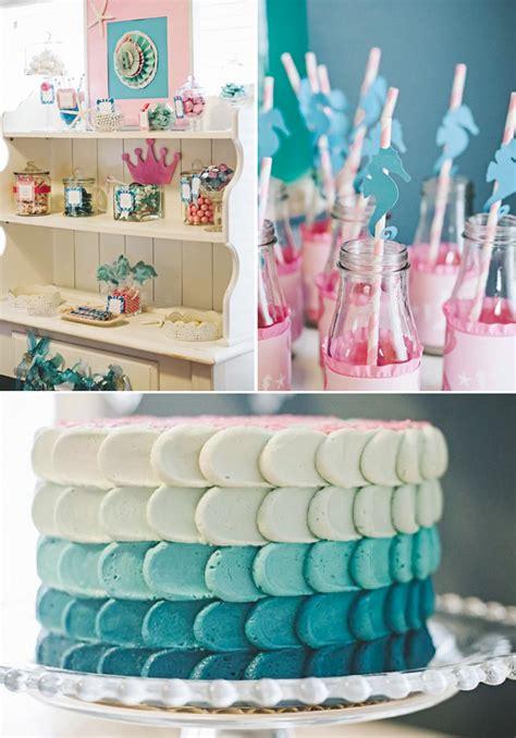 Barbie Games Room Decoration - kara s party ideas under the sea mermaid ocean party planning ideas decorations