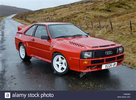 Old Audi Rally Cars by Classic Audi Quattro Rally Car 2 Door Version Stock Photo