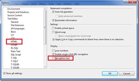 scottgu s tip trick increase your vs screen real estate by disabling html navigation bar