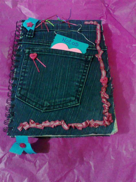 decorar jeans con botones libreta forrada con un viejo pantal 243 n de mezclilla