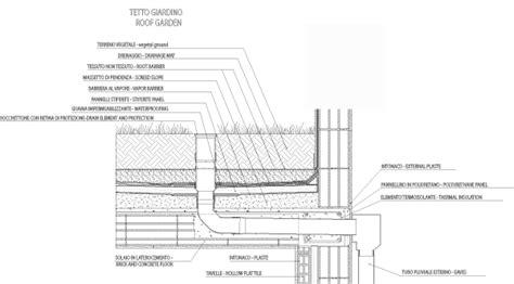 sezione tetto giardino tetto giardino free dwg file particolari gratis