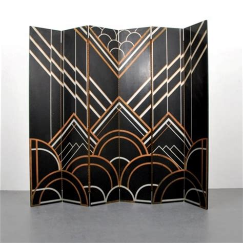 deco room divider deco six panel folding screenroom divider by donald