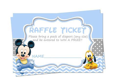 Ticket Baby Shower Invitations by Baby Mickey Mouse Baby Shower Raffle Tickets