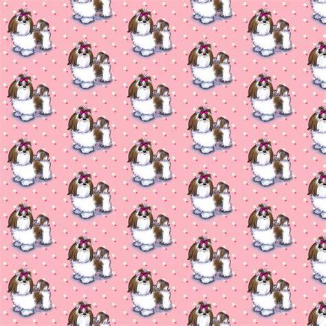 shih tzu fabric shih tzu pink small print fabric catiacho spoonflower