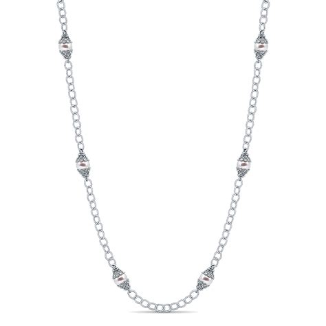 gabriel co jewelry infinite gems collection pearl necklace