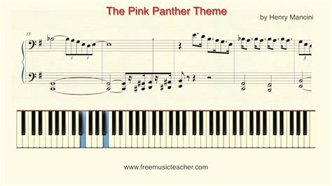 Tutorial Piano Pink Panther | how to play piano pink panther quot the pink panther quot theme