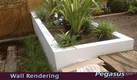 Exterior Wall Rendering Garden Wall Pegasus Plasterers Garden Wall Render