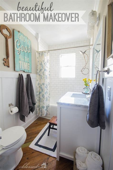 Beautiful Cottage Style Bathroom Makeover