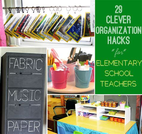 organization hacks 29 clever organization hacks for elementary school teachers