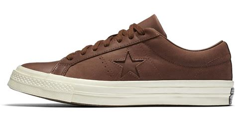 Top Pillato Premium 5 lyst converse one premium leather low top s shoe in brown for