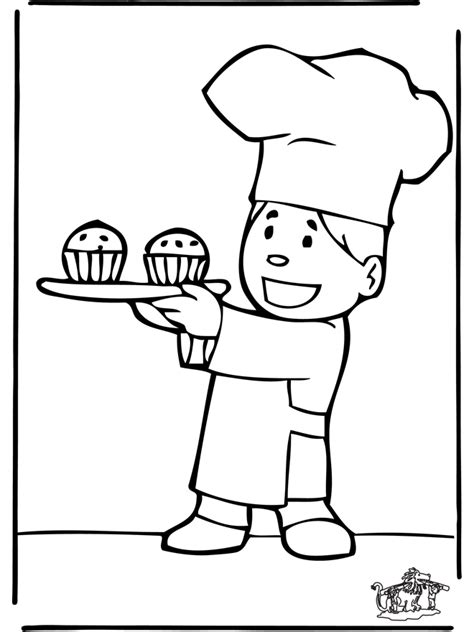 Baker Coloring Page baker 5 the baker